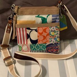 Coach multicolored patchwork crossbody bag